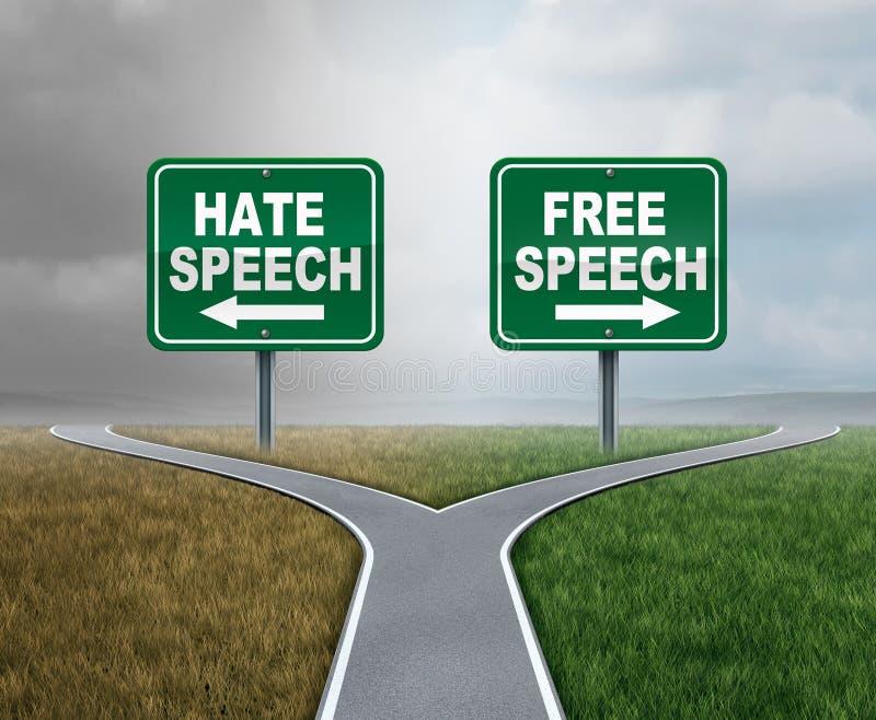 Åsiktsfrihet och hat vektor illustrationer
