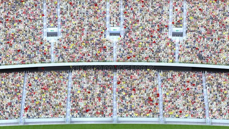 Åskådare i stadion framförande 3d stock illustrationer