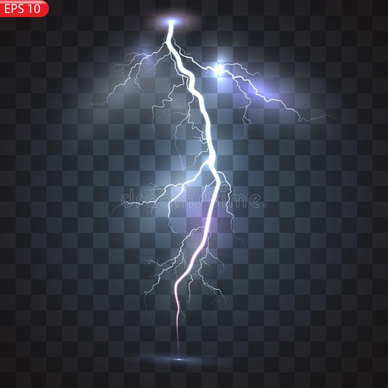 Åska-storm och blixtar royaltyfri illustrationer