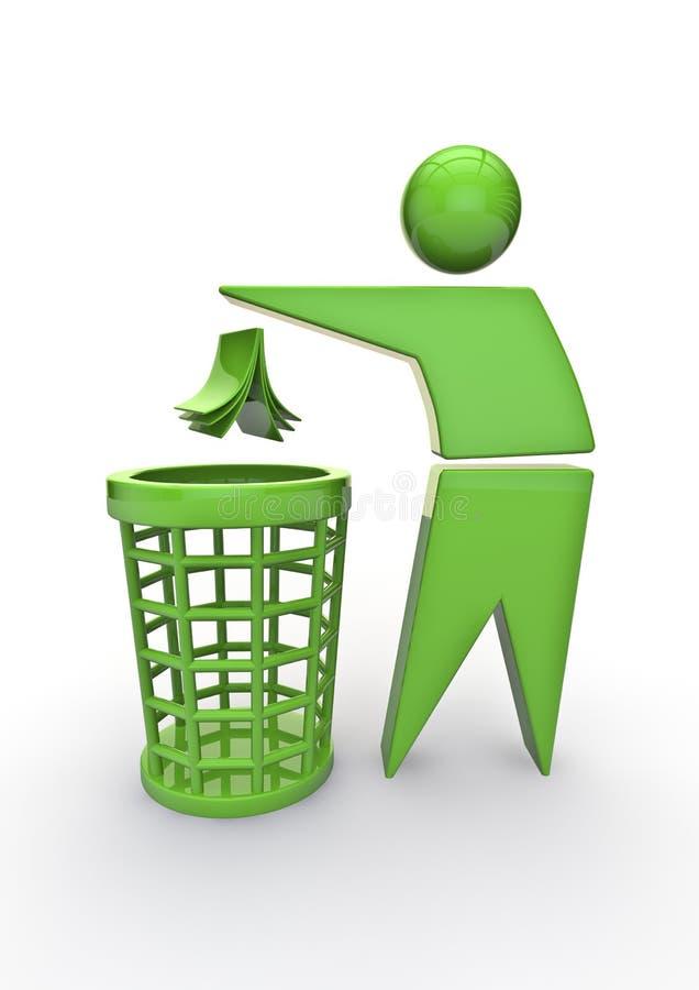 återanvänd avfall royaltyfri illustrationer