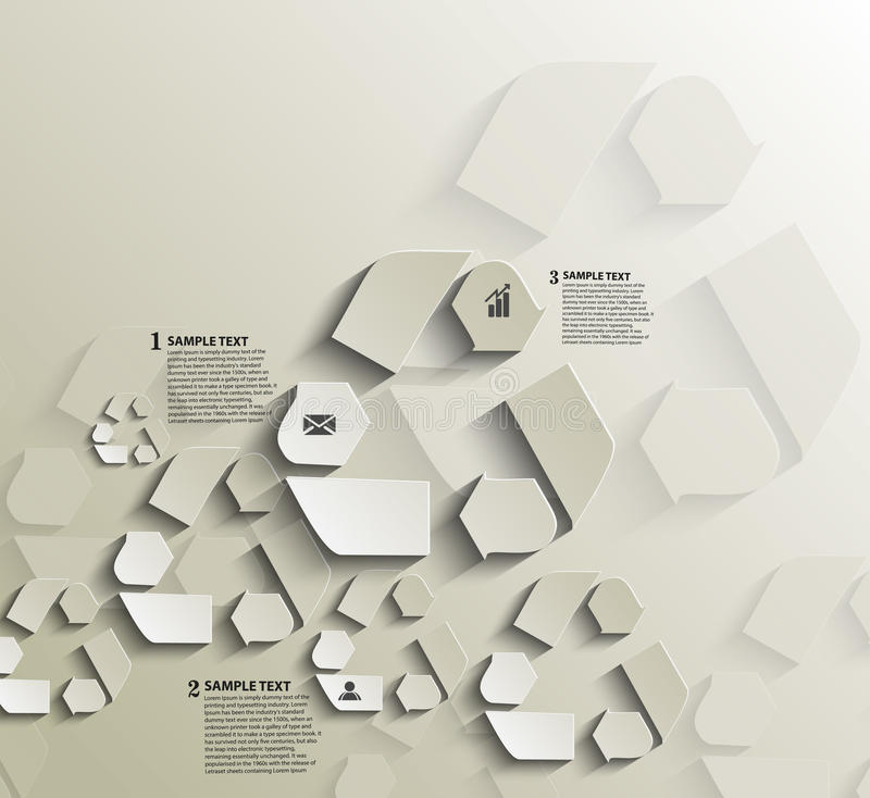 Återanvänd den symbolInfographics designen vektor illustrationer