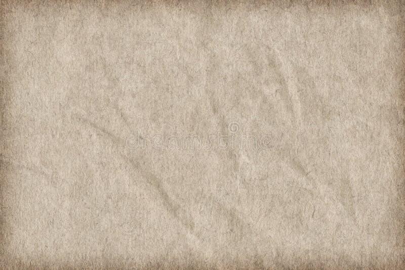 Återanvänd pappers- av vit skrynklig karaktärsteckningGrunge Texture_ för grovt korn royaltyfri foto