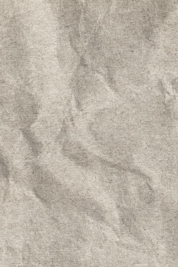 Återanvänd pappers- beige skrynklig Grungetextur för grovt korn royaltyfri bild