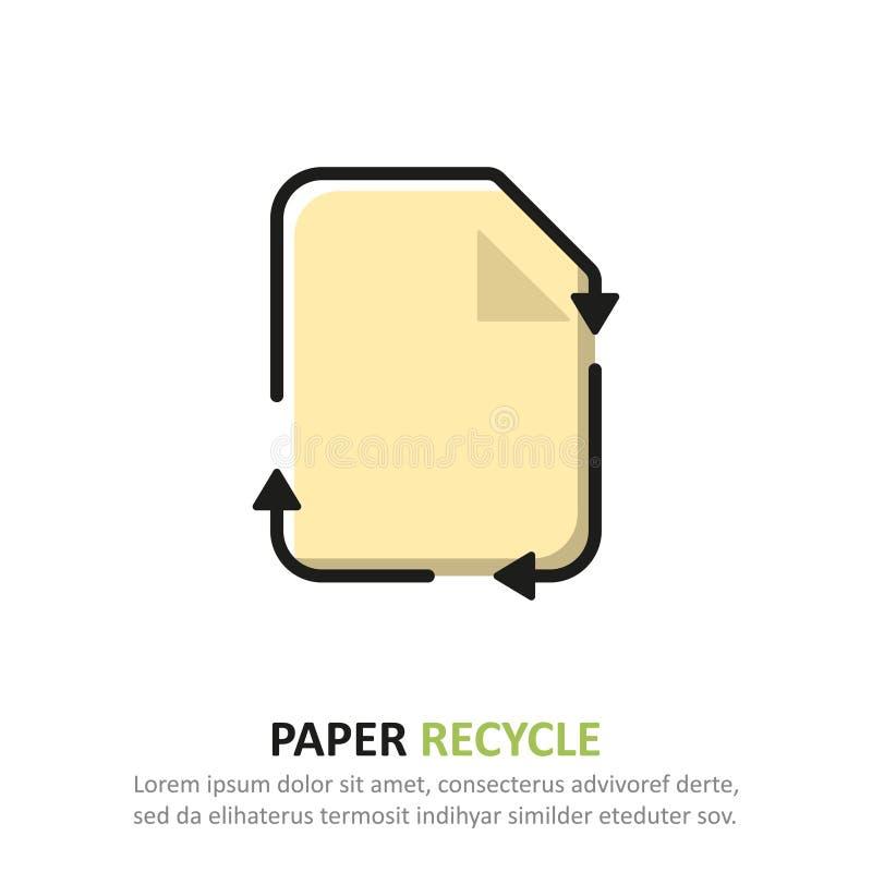 ?teranv?nd papperssymbolen i en plan design ocks? vektor f?r coreldrawillustration stock illustrationer