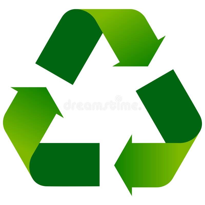 Återanvänd pilar förnyar grön logo royaltyfri illustrationer
