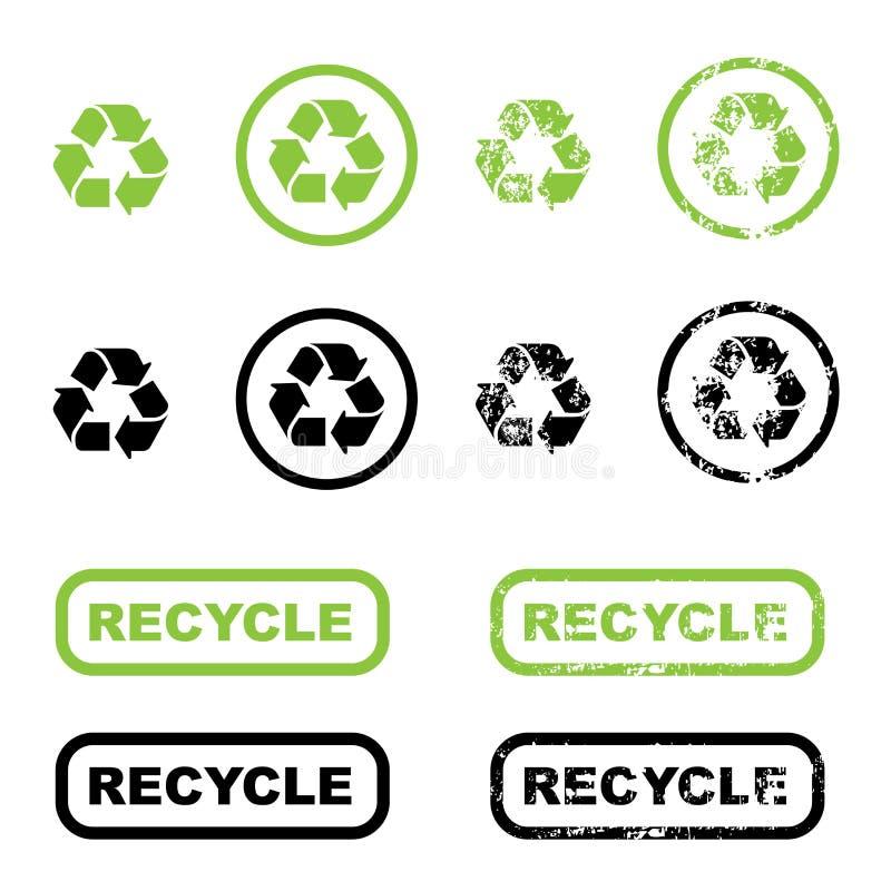 återanvänd symboler vektor illustrationer