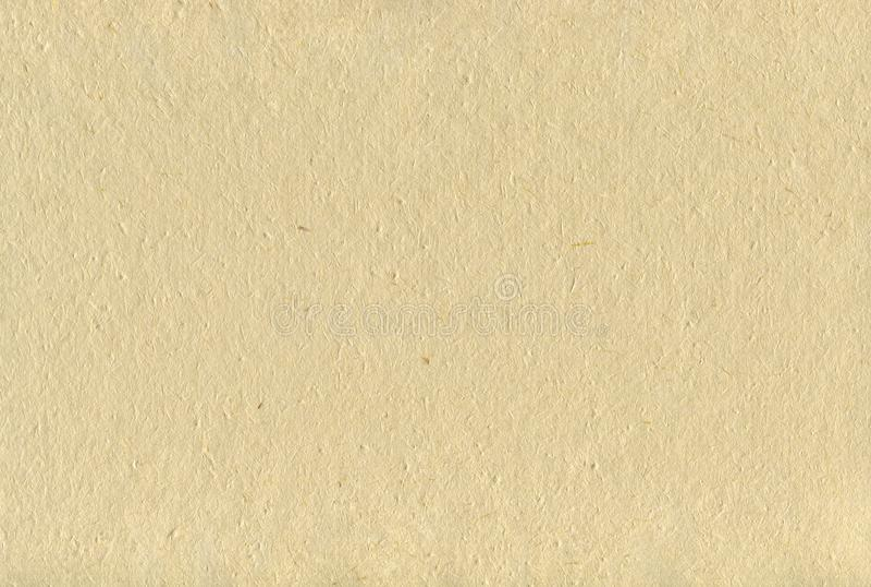 Återanvända beigea Tan Art Paper Texture Background, skrynklig handgjord horisontalStraw Craft Sheet Textured Macro för grova ris royaltyfri fotografi