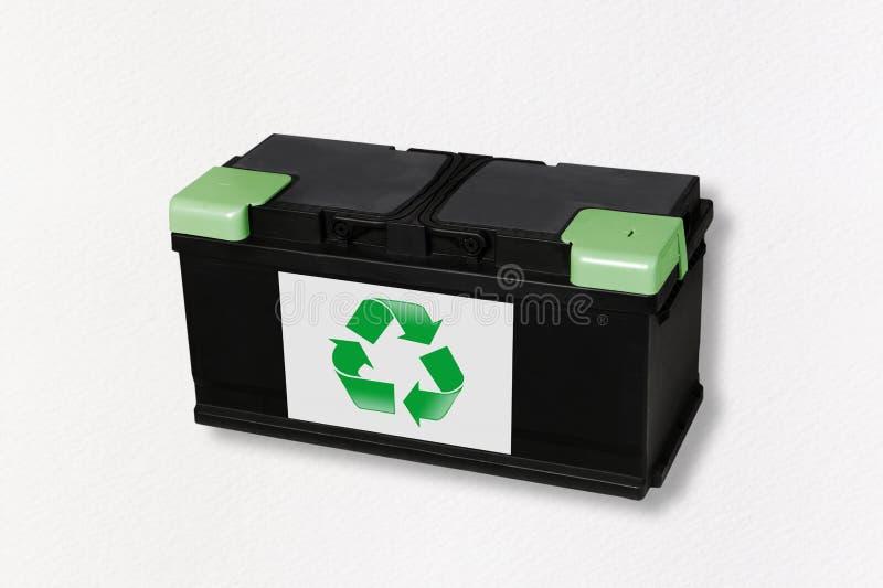Återanvändbara batterier från elbilar arkivbild