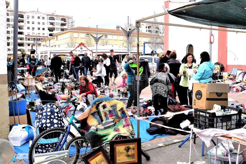Återanvändning av försäljningar, Fuegirola, Spanien royaltyfri bild