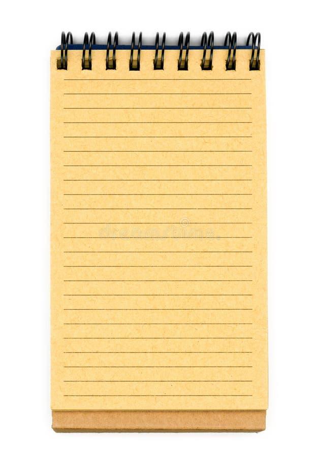 återanvänt anteckningsbokpapper royaltyfria bilder