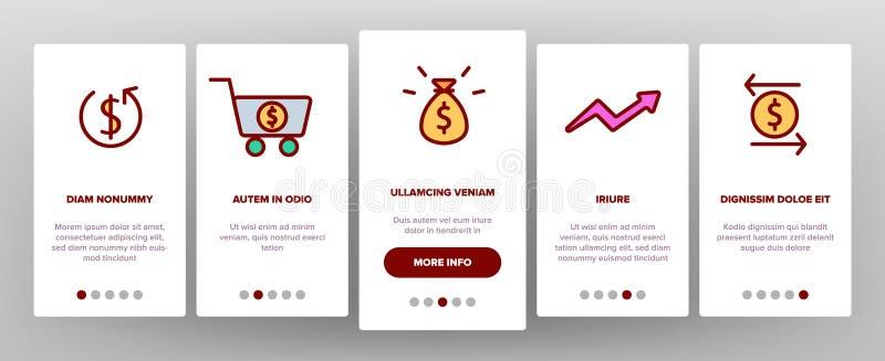 Återbäring E-betalning systemvektor Onboarding stock illustrationer