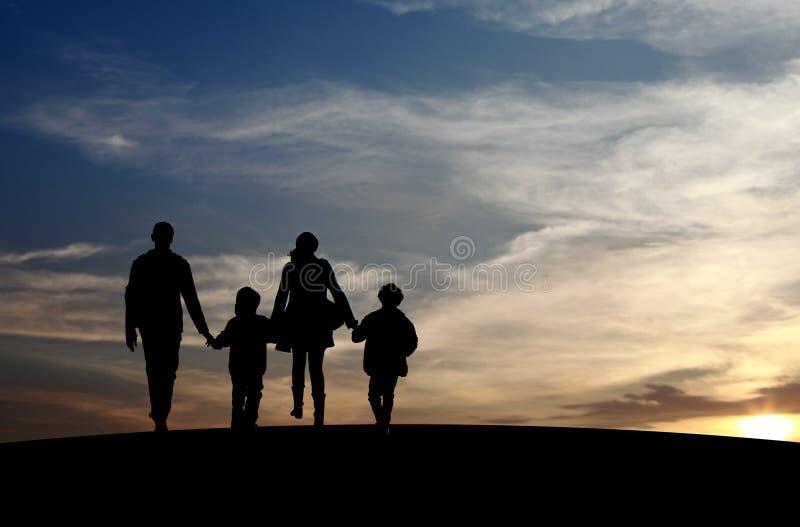 Återförenad familj arkivfoto