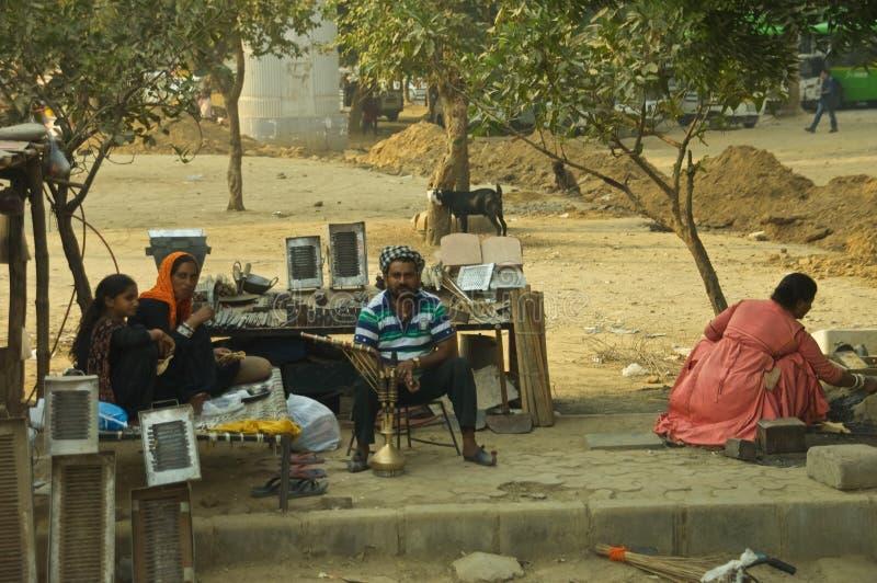 Återförsäljare Indien för restmetall royaltyfri bild