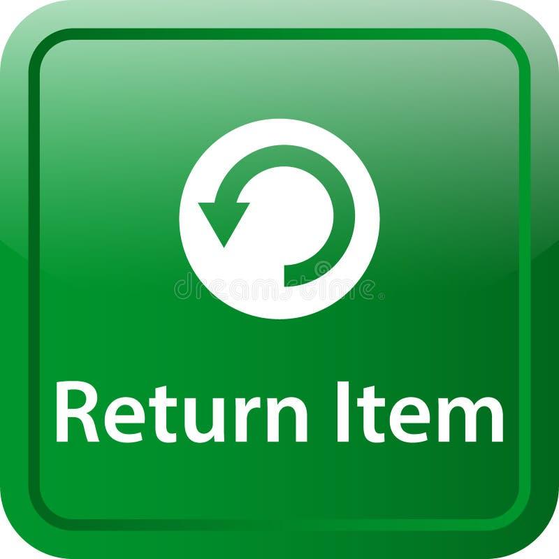 Återgång objektsymbolsknapp stock illustrationer