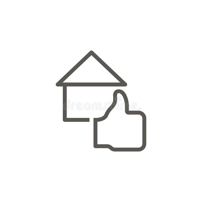 Återkoppling hus, egenskapsvektorsymbol Enkel best?ndsdelillustration fr?n UI-begrepp Återkoppling hus, egenskapsvektorsymbol ver royaltyfri illustrationer