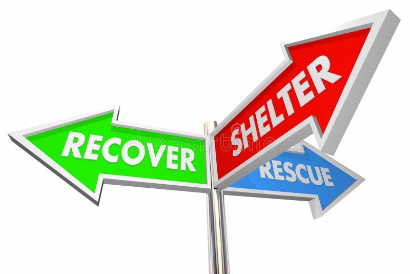 Återställ räddningsaktionskyddbesparingar som hjälper illustrationen för tecken 3d vektor illustrationer