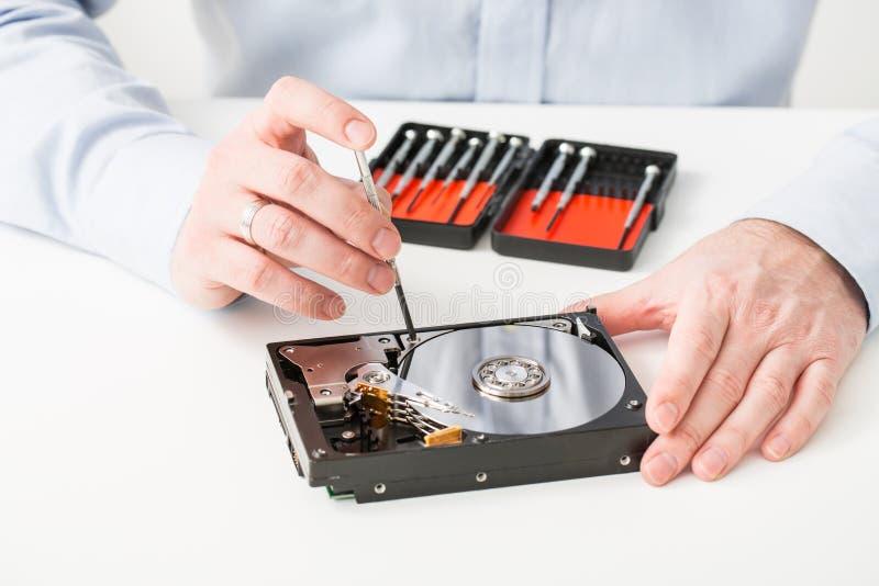Återställande för skiva för hdd för diskett för datahårddisk reserv- royaltyfri bild