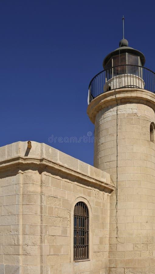 Återställd fyr i Roquetas Del Mar royaltyfria bilder