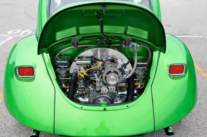 Återställd Volkswagen utskjutande motor arkivfoton