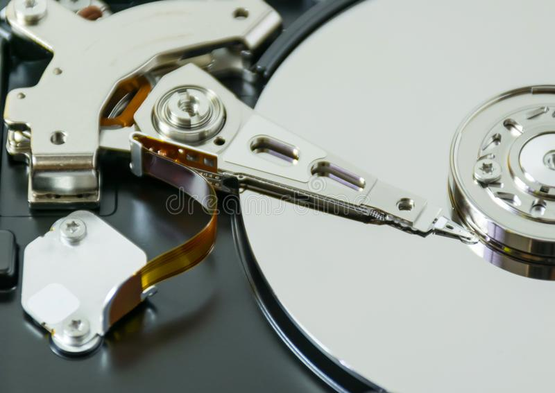 Återställning för data för hårddiskreparationsdator fotografering för bildbyråer