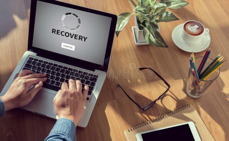 ÅTERSTÄLLNING (reserv- återställandedata för återställning) arkivfoton