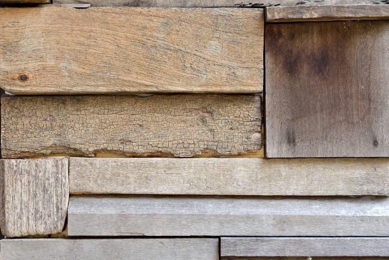 Återvinner Wood plankavägg royaltyfri fotografi