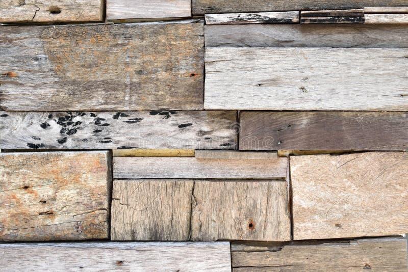 Återvinner Wood plankavägg arkivbilder