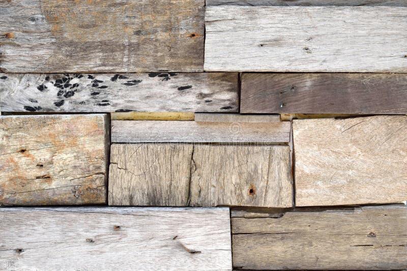Återvinner Wood plankavägg royaltyfria bilder