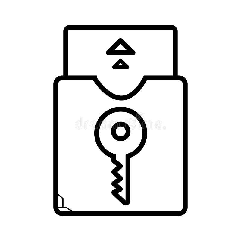 Åtkomstskydd Nyckel- kort vektor illustrationer