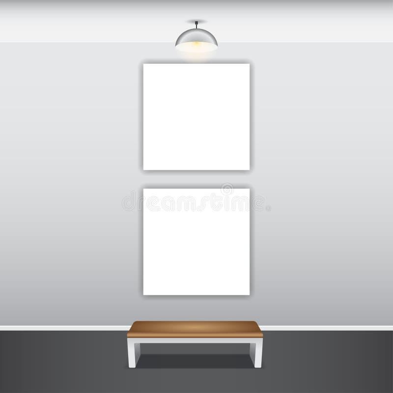 Åtlöje upp affischen med taklampor royaltyfri illustrationer