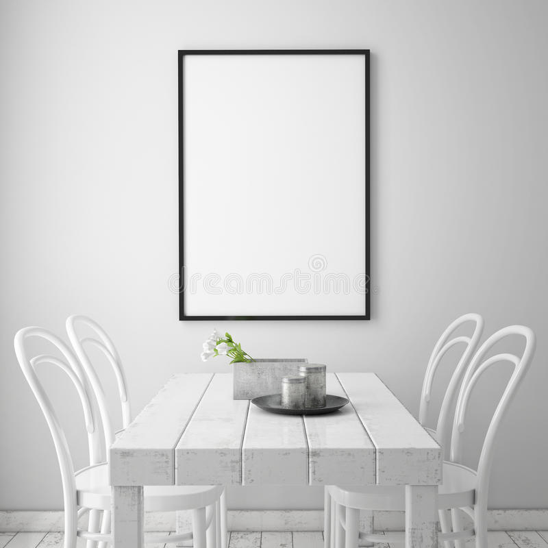 Åtlöje upp affischram stock illustrationer