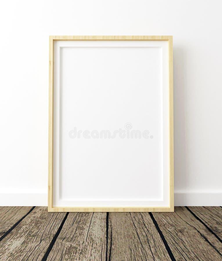 Åtlöje upp affischram i den vita inre vektor illustrationer