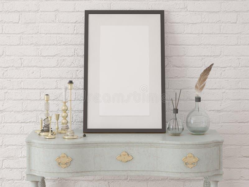Åtlöje upp affischram med en bröstkorg vektor illustrationer