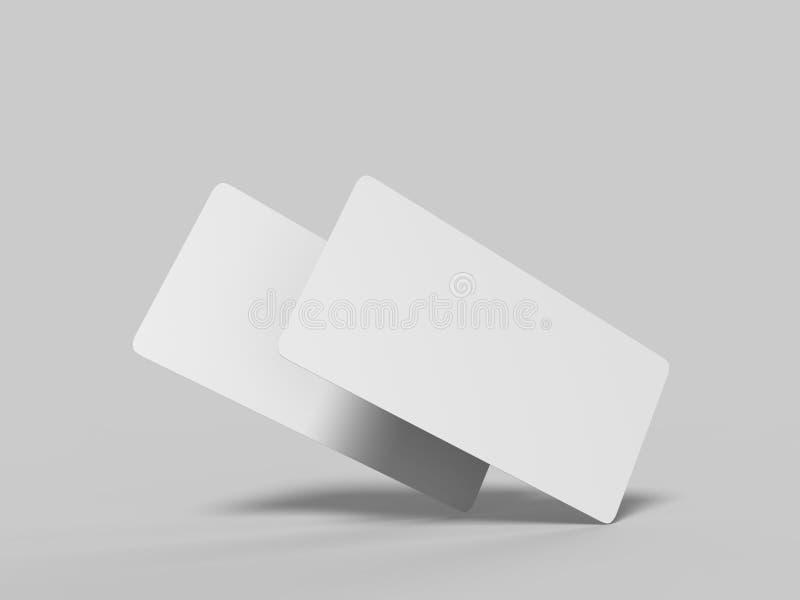 Åtlöje upp det vita mallmellanrumet tömmer det rundade hörnpresentkortkortet på den gråa bakgrunden För grafisk design eller pres vektor illustrationer