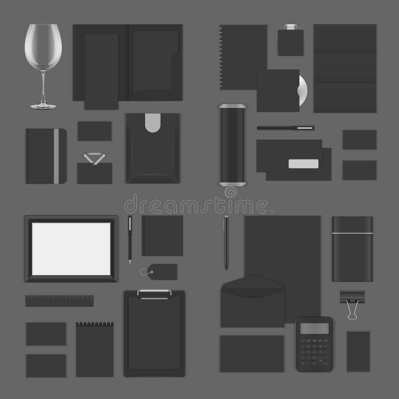 Åtlöje upp för företags identitet för logopresentation vektor illustrationer
