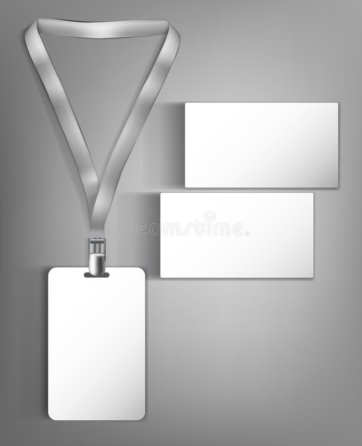 Åtlöje upp klar design för mall med ett emblem- och affärskort vektor illustrationer