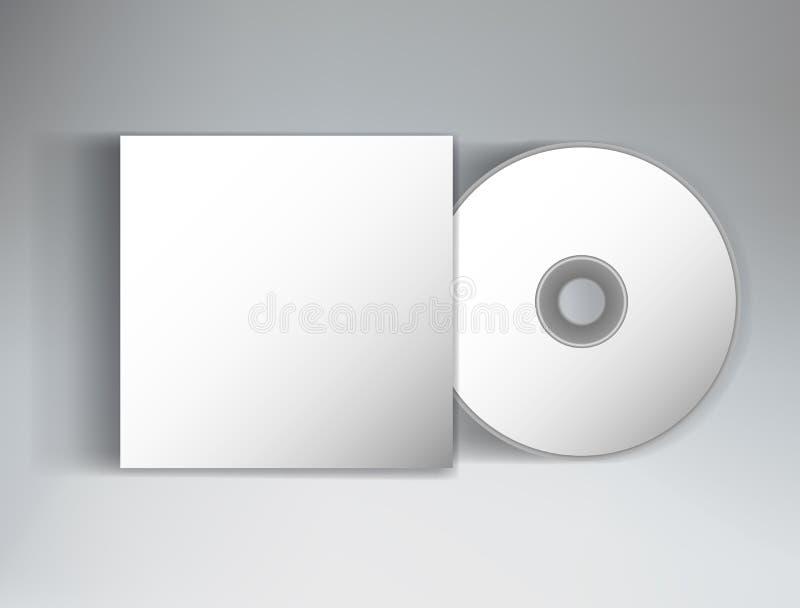 Åtlöje upp klar design för mall med räkningen och CD royaltyfri illustrationer