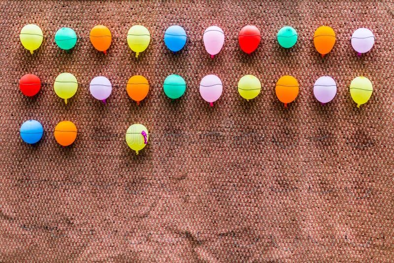 Åtskilliga färgrika ballons arkivfoton