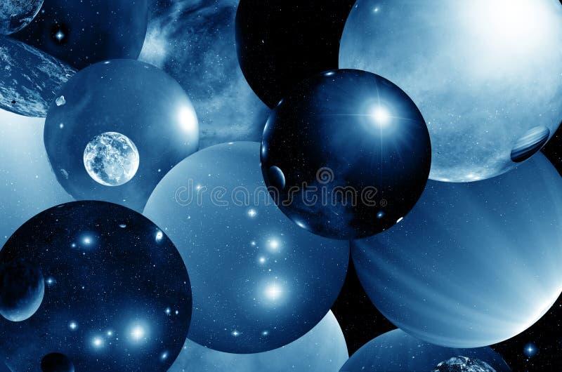 Åtskilligt universum stock illustrationer