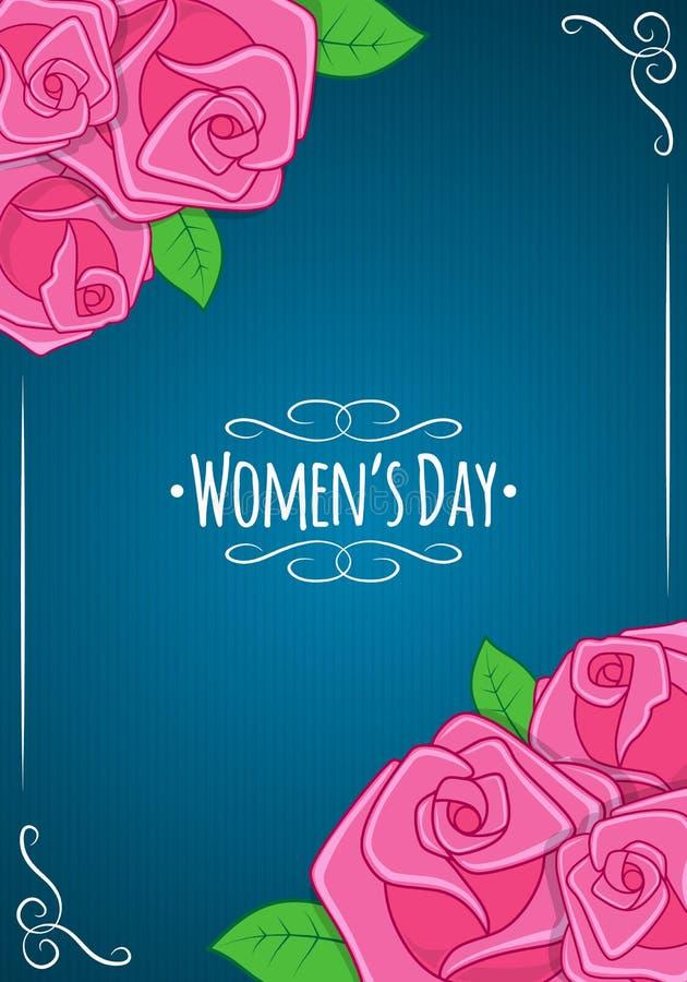 Åtta 8 av mars, kvinnors dagbakgrund vektor illustrationer