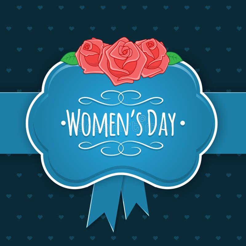 Åtta 8 av mars, kvinnors dagbakgrund royaltyfri illustrationer