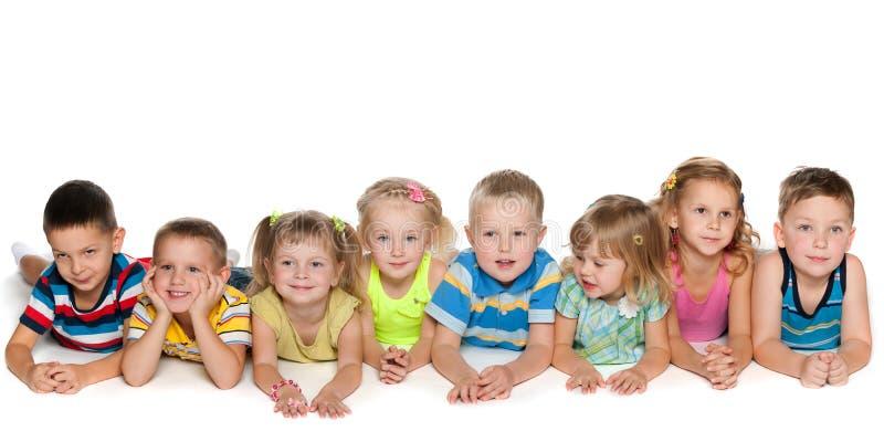 Åtta barn royaltyfria foton