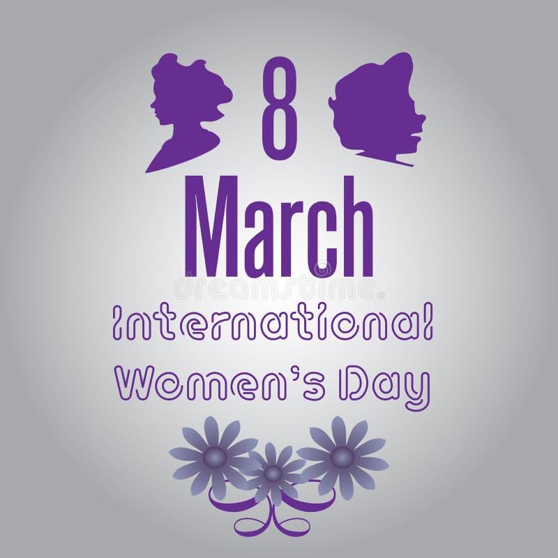 Åtta mars stock illustrationer