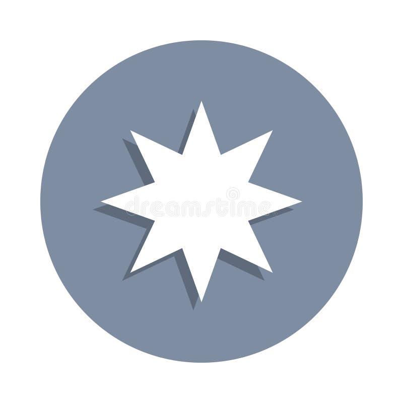 åtta-pekad stjärnasymbol i emblemstil En av rengöringsduksamlingssymbolen kan användas för UI, UX vektor illustrationer