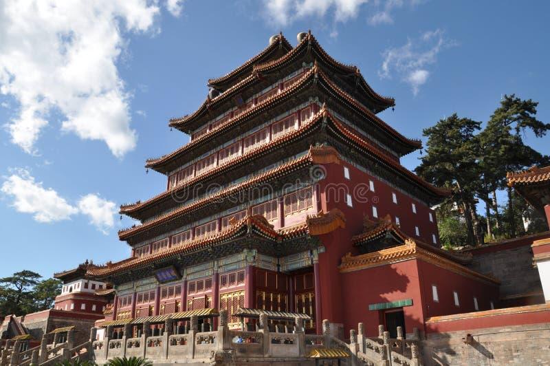 Åtta yttre tempel av Chengde royaltyfri fotografi