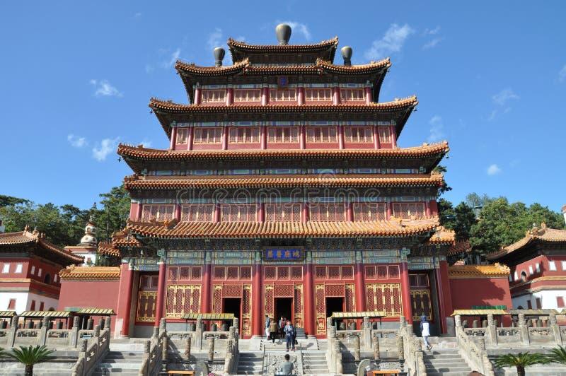 Åtta yttre tempel av Chengde arkivfoton
