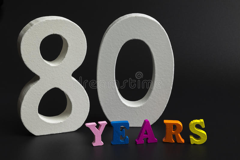 Åttio år royaltyfria bilder