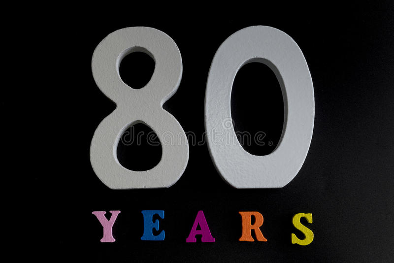 Åttio år royaltyfri bild