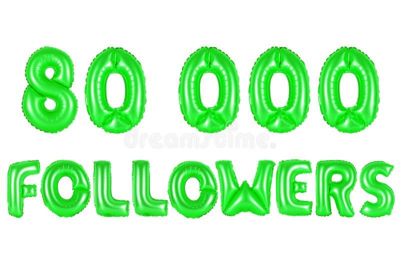 Åttio tusen anhängare, grön färg royaltyfri foto