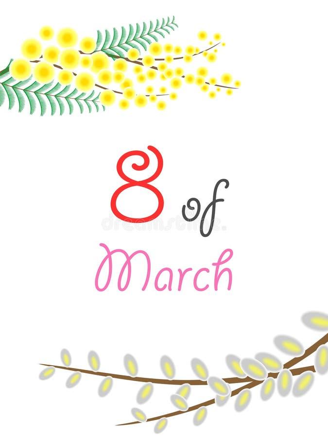 Åttondel av mars stock illustrationer